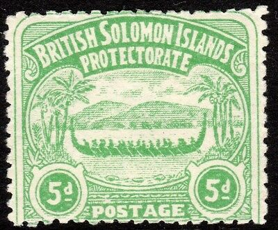 British Solomon Islands 1907 emerald-green 5d mint SG5