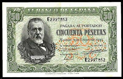 50 Pesetas From Spain 1940  XF MM3