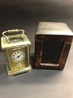 Antique Small French 8 day Carriage Clock with alarm c1900