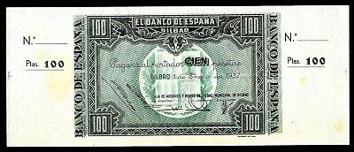 100 Pesetas From Spain 1937 Unc   MM3