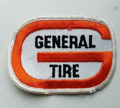 GENERAL TIRE Sew On Clothing Patch, never used, 3 and 3/4 by 2 and 3/4 inch
