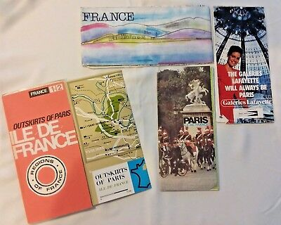 Maps of France, Paris (2), and Outskirts of Paris - from early 80s