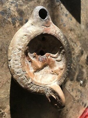 Ancient Roman Oil Lamp 200 B.C.E. To 100A.D. From Jerusalem