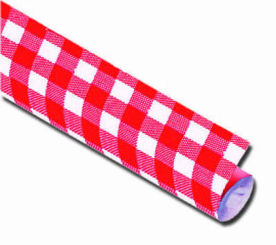 1 Paper Tablecloth White-Red, 100 cm x 10m, Table Cover Damast, Bavaria, Franken