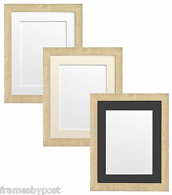Light Brown Deep Grain Picture Photo Frames with White Black or Ivory mounts