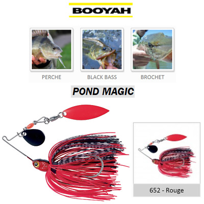 SpinnerBaits BOOYAH POND MAGIC Rouge Red PIKE BLACK BASS ...
