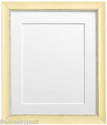 Nordic Cream Picture Photo Frames & White Black Ivory Pink Blue or Grey Mounts