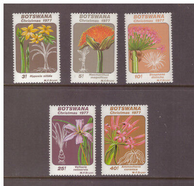 Botswana MNH 1977 Flowers Lilies  set mint stamps