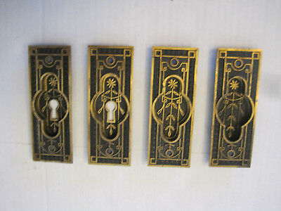 Antique Pocket Door Plates - (4) - in Very Good Condition