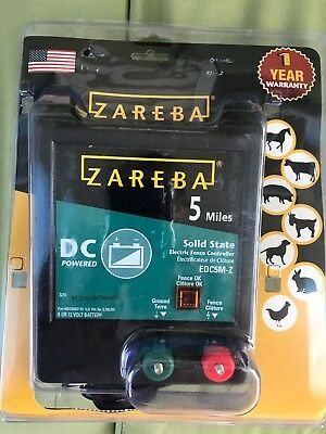 Zareba EDC5M-Z 5-Mile Battery Operated Solid State Fence Charger New