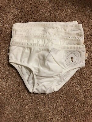 Burt's Bees Baby Organic Cotton Girls Lot Of 5 Training Underwear New NWOT 4T