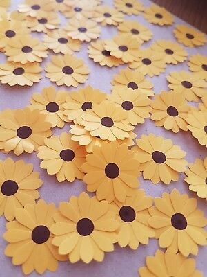 Paper Sunflowers Table Confetti Yellow Decoration Summer Birthday Party 150