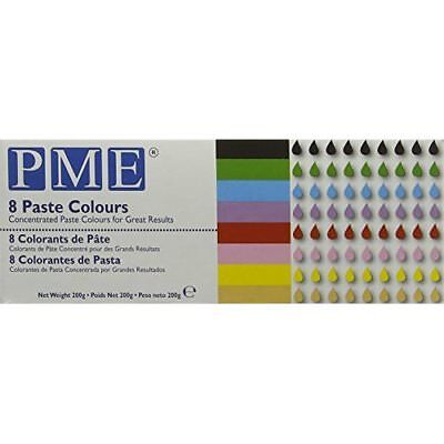 PME Concentrated Paste Colours for Icing, Sugarpaste, Fondant and Much More (Set