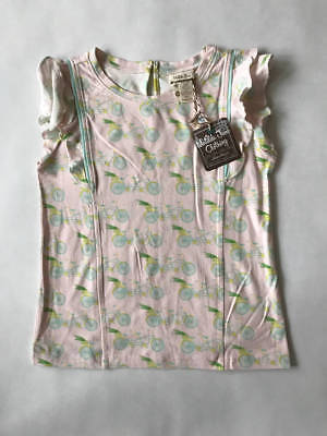 Matilda Jane Hello Lovely Easy Breezy Pink Bicycle Top! NWT! 10