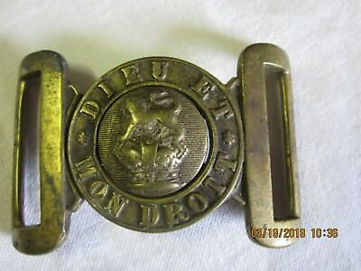 Canada WWI - Royal Canadian Army Victorian General Service Brass Belt Buckle