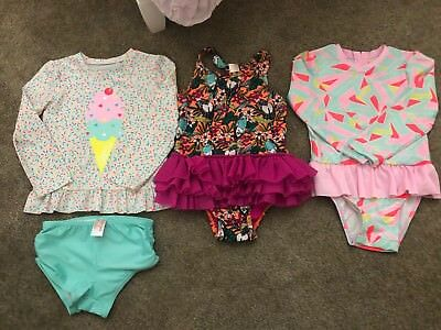 Great Used Condition Cat & Jack Toddler Girl 5T Swimsuits  Summer