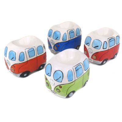 Fun Ceramic VW Campervan Egg Cup Set Of Four By Giftworks