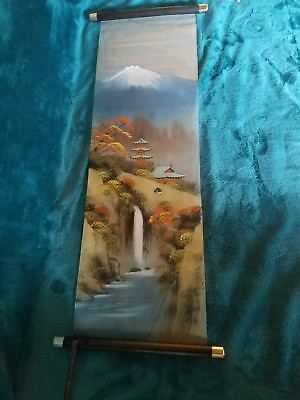 """Scroll Painting Rice Paper/fabric 26"""""""