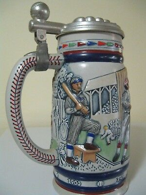Great American Baseball Vintage 1984 Limited Edition Lidded Avon Beer Stein #'d