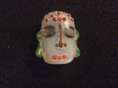 Ancient glass face bead Warring States period ca. 400-200 bc. China