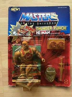 Motu Masters of the Universe Thunder Punch He Man Ovp Moc 1984 mint sealed
