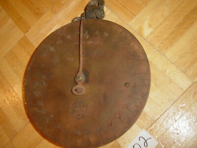 Antique Chatillon Scale Round Brass Face 300 Pound Not Cleaned