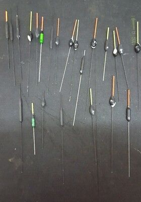Pole fishing Floats Job Lot 23 all hand made never been in water
