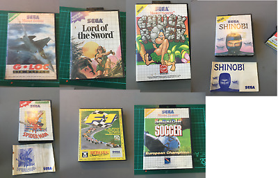 Sega Master System Empty Game Boxes