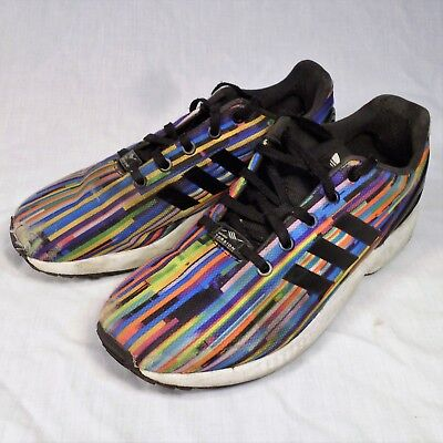 size 40 6a6c9 1c4a3 ADIDAS ZX FLUX Torsion Shoes Rainbow Prism 6.5 Sneakers