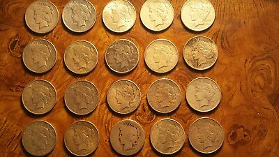 Peace Silver Dollar Cull Condition  90% Silver Lot of (20) Coins.