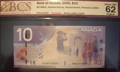 Canada 2008 BC-68bA $10 Replacement  BTW2143819 - BCS ChUnc-62