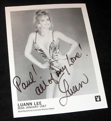 Playboy Playmate LUANN LEE (Miss January 1987) Promo Photo - SIGNED, AUTOGRAPHED