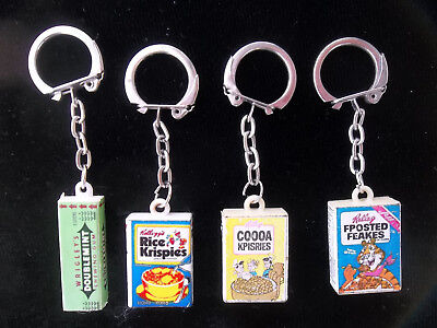 "Vintage 1960s Mini ""SPOOF"" Cereal Box & Gum Promo Advertising Key Chains LOT"