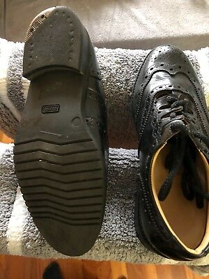 Ghillie Brogues Piper Shoes Blk Size 9.5 UK.