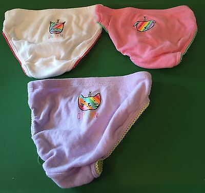 "Girls The Children's Place ""Unicorns"" 3-Pairs Bikini Underwear ~Size 2t/3t~ NWOT"