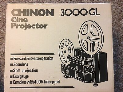 Vintage Chinon 3000 GL Cine Projector Complete With Box And Instruction Manual