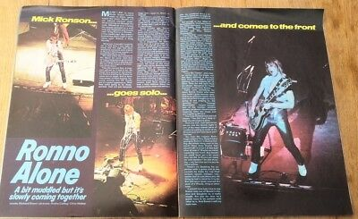 MICK RONSON 'goes solo' 1974 ARTICLE / clipping (Bowie)