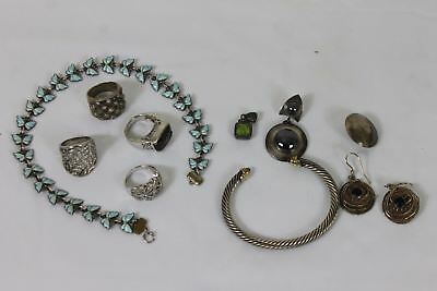 100.7 Gram Lot of Scrap or Wearable Sterling Silver with Stones