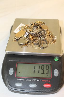 118 Grams, Lot of Gold Filled, Rolled, Plated Jewelry,Wega,Gruen,Wristwatchs