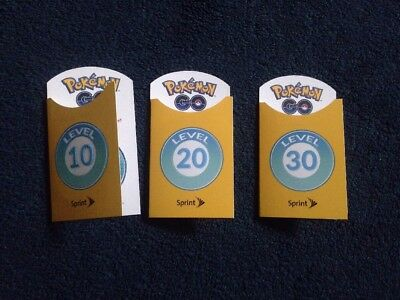 Pokemon Patches - Lot Of 3 Level 10, 20, And 30 Patch