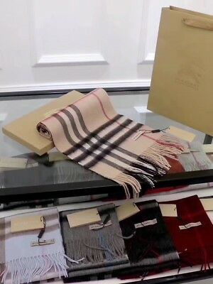 *※NEW 100% CASHMERE ※BURBERRY@ Women's SCARF Classic beige Check