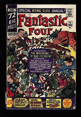 Fantastic Four Annual #3 Rare Canadian Edition - Blank back and inside covers