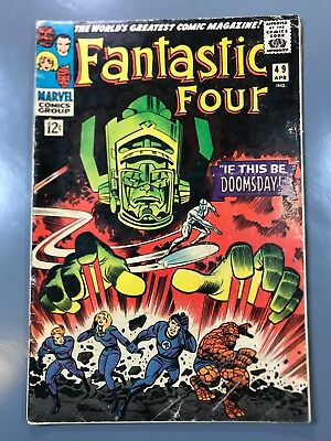 The Fantastic Four No. #49 2nd Second Appearance Silver Surfer 1st Full Galactus