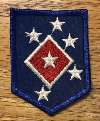 """ORIGINAL WWII - US 1st M.A.C. SERVICE and SUPPLY 2"""" PATCH EMBROIDERED on TWILL"""
