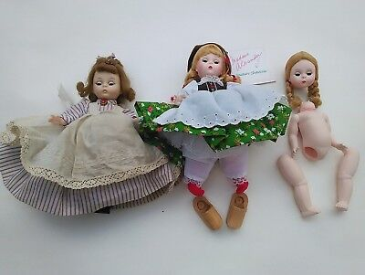 "Vintage ""Alexander-Kins"" ""Meg"" Doll BK Austria Lot TLC as is repair"