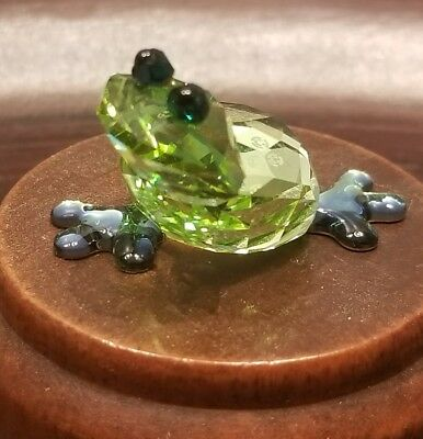Swarovski Crystal Figurine #1041376 Romeo Green Frog Lovlots RARE New in Box