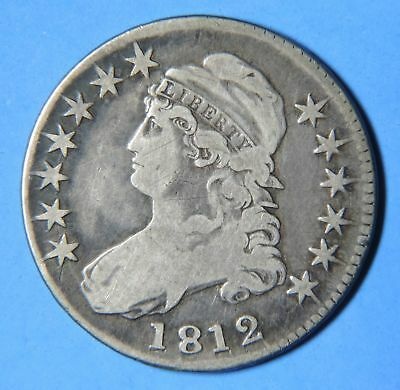 1812 U.S. Silver Capped Bust Half Dollar 50 C. Cent Piece Type Coin