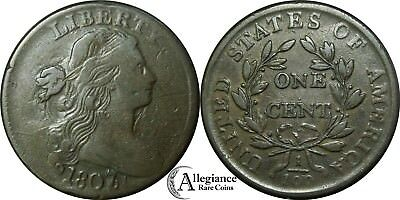 1807/6 1c Draped Bust Large Cent S-273 R.1 from an old estate lot/collection