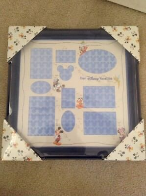Disney Parks Mickey Family Vacation Collage Picture Photo Blue Frame New
