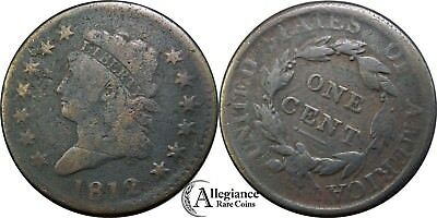1812 1c Classic Head Large Cent LARGE DATE from an old estate lot/collection